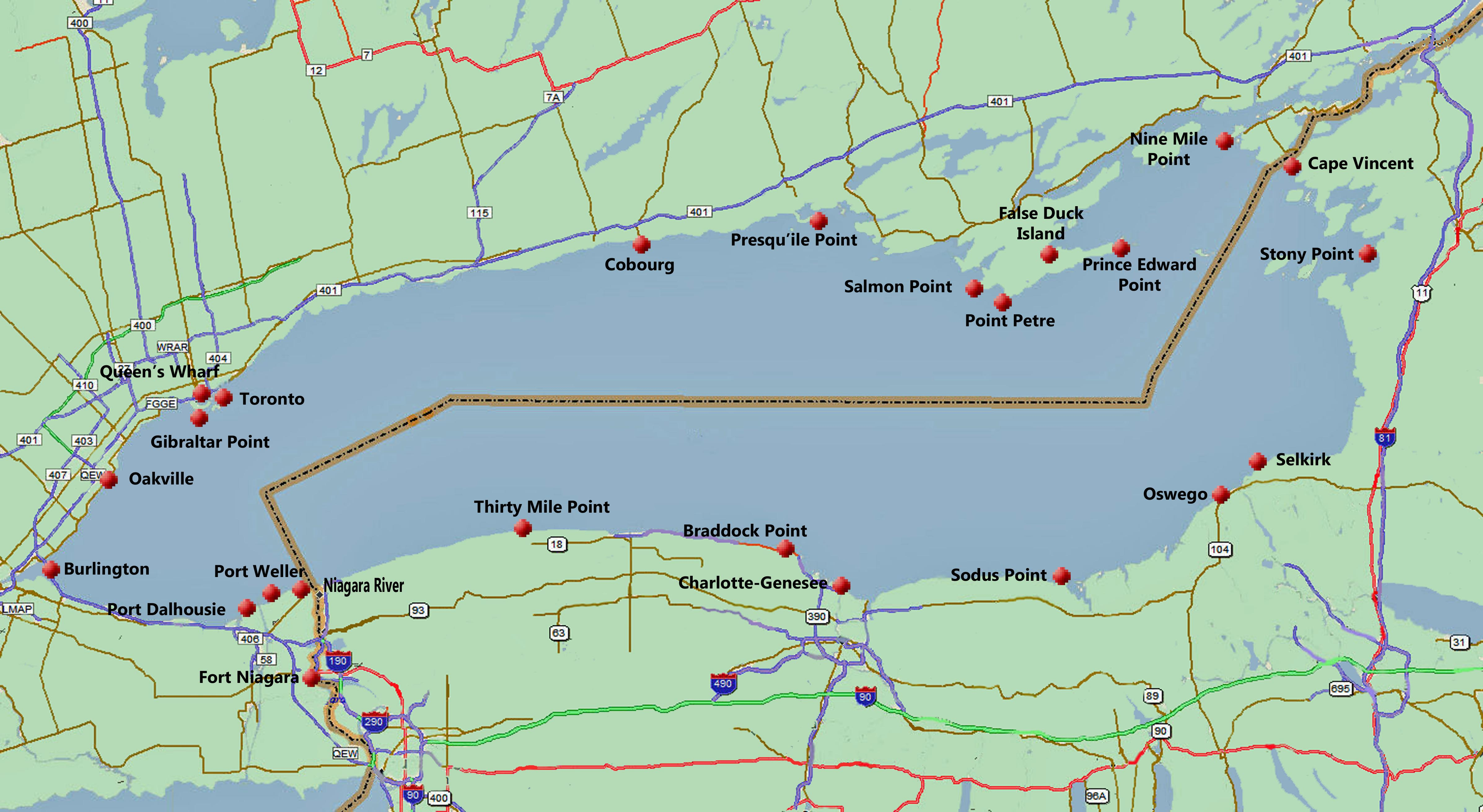 Lake ontario fishing oswego ny lake ontario salmon and for Salmon river ny fishing map